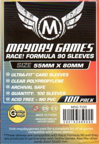 Accessori Cards - 100 card sleeves - board game: 55 x 80 mm - race! formula 90