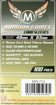 Accessori Cards - 100 card sleeves - board game: 49 x 93 mm - tribune