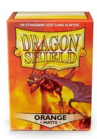 Accessori Cards - 100 card sleeves - buste protettive per cards: Matte orange - formato usa 66 x 91