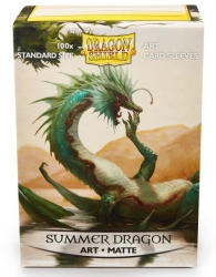 Accessori Cards - 100 card sleeves - buste protettive per cards: Summer dragon - formato usa 66 x 91