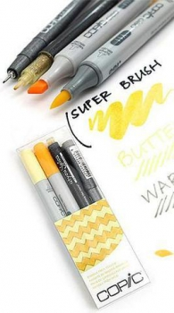 Scrittura e Disegno - Copic - ciao - doodle pack yellow